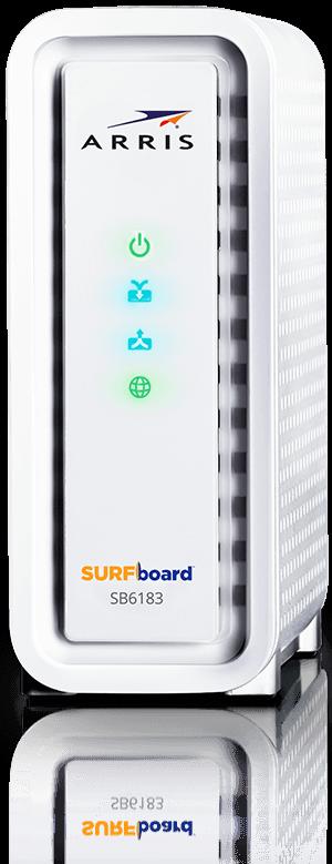 Arris Surfboard Sb6183 Side View Modem Approvedmodemlist Com