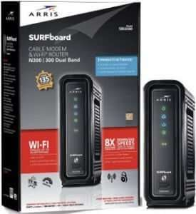 ARRIS SURFboard SBG6580 WiFi Router DOCSIS 3.0 Blue Ridge Approved Modems
