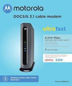 Motorola MB8600 DOCSIS 3.1 Suddenlink Approved Modems