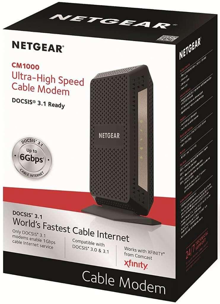 Netgear Cm1000 Package Modem Approvedmodemlist Com
