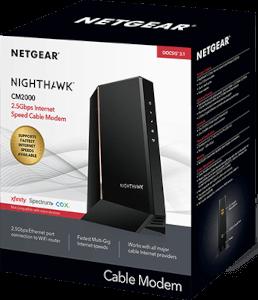 NETGEAR CM2000 DOCSIS 3.1 Optimum Approved Modems