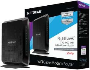 NETGEAR Nighthawk AC1900 C7000 WiFi Router DOCSIS 3.0 WOW Approved Modems