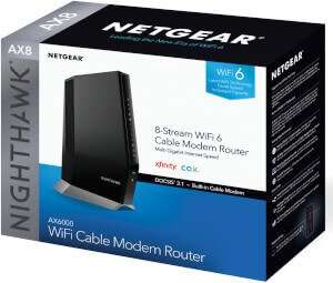 NETGEAR Nighthawk AX6000 CAX80 WiFi 6 Router DOCSIS 3.1 Atlantic Broadband Approved Modems